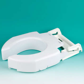 Secure-Bolt™ Hinged Elevated Toilet Seat - Elongated picture