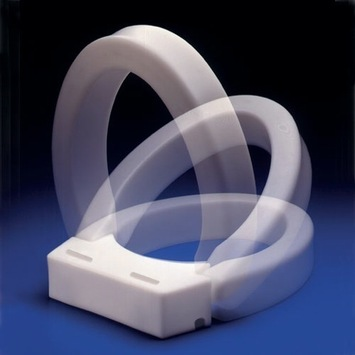 Hinged Elevated Toilet Seat - Elongated picture