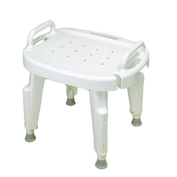 Adjustable Shower Seat with Arms, No Back picture
