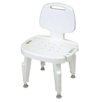 Adjustable Shower Seat with Back, No Arms picture