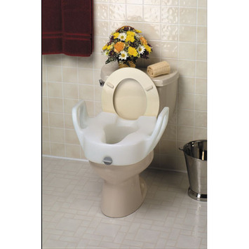 Lock-On™ Elevated Toilet Seat with Arms picture
