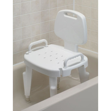 Adjustable Shower Seat with Arms and Back picture