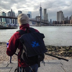 #30 Days of Biking Canvas Backpack picture