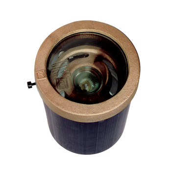 CAST MR-16 Well Light with convex lens in bronze ring picture