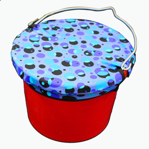 Horse Spa Lycra Bucket Top Small 8Qt Bubbles picture