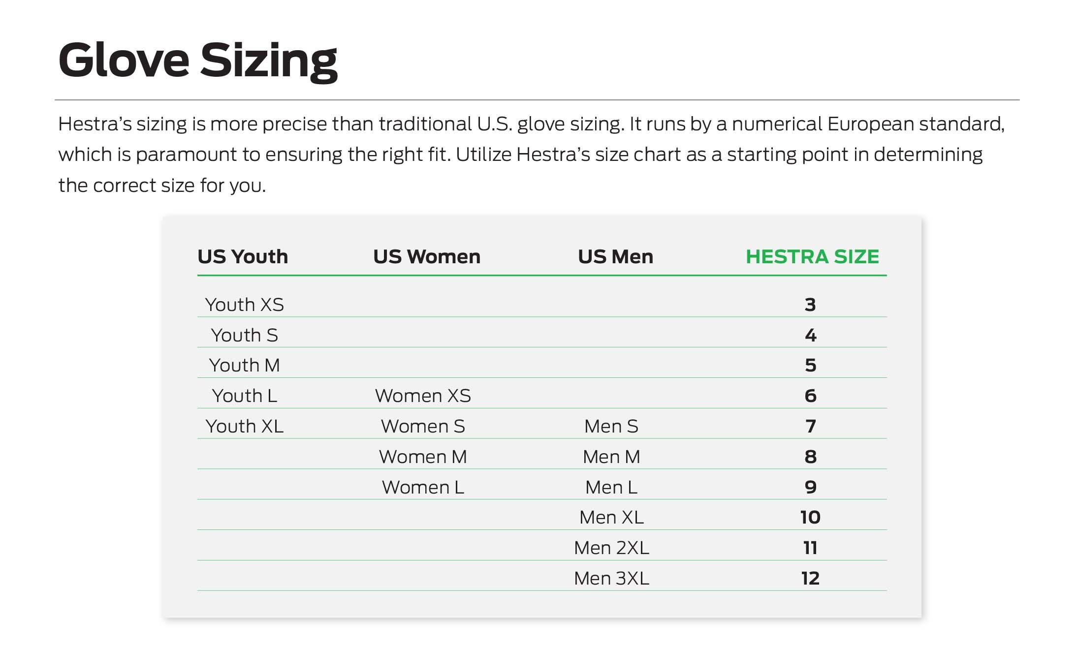 JOB Size Chart Page