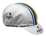 Bianchi-Milano Neon Cycling WHITE Cap - WC Stripes