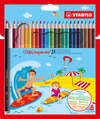 STABILOaquacolor, aquarellable coloured pencil, wallet of 24 colours