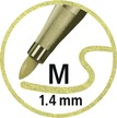 STABILO Pen 68 metallic fibre-tip pen - blister 3 - 1x silver, copper & gold additional picture 5