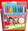 STABILO power fibre-tip pen cardboard wallet of 15 colours