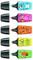 STABILO BOSS MINI Funnimals highlighter - pack of 5 colours (yellow, green, orange, pink, blue) additional picture 1