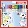 STABILO Pen 68 brush card wallet of 24