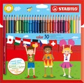 STABILO color, coloured pencil, cardboard wallet of 30 colours including 4 fluorescent colours