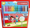 STABILO power fibre-tip pen cardboard wallet of 18 colours