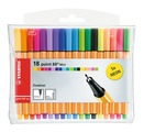 STABILO point 88 Mini fineliner - wallet of 18 including 5 neon colours
