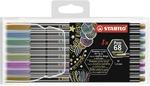 STABILO Pen 68 metallic fibre-tip pen - wallet of 8
