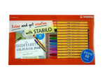 STABILO Mindfulness Colouring Book and Pen Set