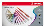 STABILO CarbOthello chalk-pastel coloured pencil metal box of 48 colours