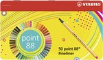 STABILO point 88 fineliner - metal tin of 50 colours