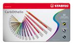 STABILO CarbOthello chalk-pastel coloured pencil metal box of 60 colours