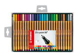 STABILO point 88 Fineliner wallet of 25 colours