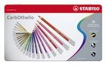 STABILO CarbOthello chalk-pastel coloured pencil metal box of 36 colours