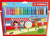 STABILO power fibre-tip pen cardboard wallet of 30 colours