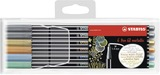 STABILO Pen 68 metallic fibre-tip pen - plastic wallet 6