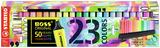 STABILO BOSS ORIGINAL highlighter 23 pc desk set with all 23 assorted colours