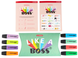 STABILO BOSS Original + Pastel with Stickers - Set of 8 assorted colours