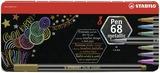 STABILO Pen 68 metallic fibre-tip pen - tin of 8
