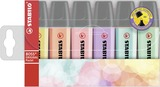 STABILO BOSS ORIGINAL Pastel highlighter - wallet of 6 colours (all colours)