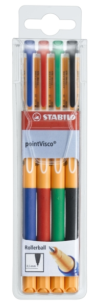 STABILO pointVisco rollerball with pioneering gel technology - wallet of 4 colours picture