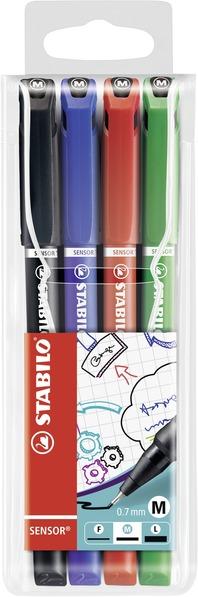STABILO SENSOR Medium 0.7 tip 4 pcs wallet (black, blue, red, green) picture