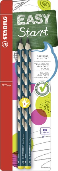 STABILO EASYgraph ergonomic pencil left handed - blister of 2 petrol picture