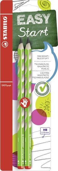 STABILO EASYgraph ergonomic pencil right handed - blister of 2 green picture