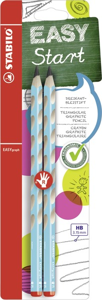 STABILO EASYgraph ergonomic pencil right handed - blister of 2 blue picture