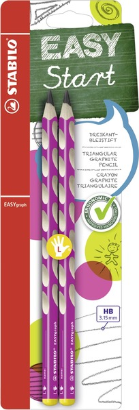 STABILO EASYgraph ergonomic pencil left handed - blister of 2 pink picture