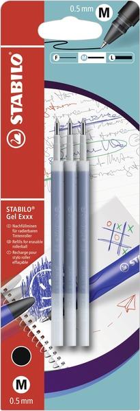 STABILO Gel Exxx erasable refills - blistercard 3pcs black picture