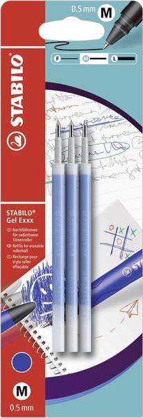 STABILO Gel Exxx erasable refills - blistercard 3pcs blue picture