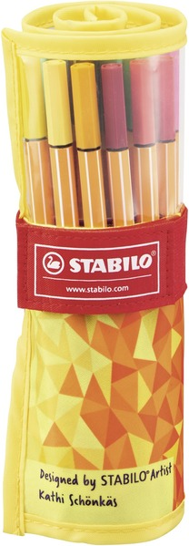 STABILO point 88 Rollerset Fan Edition fineliner - rollerset of 25 colours picture