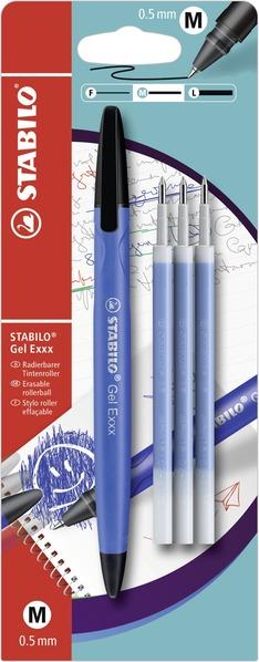 STABILO Gel Exxx erasable - blistercard blue + 3pcs refills picture