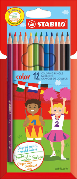 STABILO color, coloured pencil, cardboard wallet of 12 colours picture