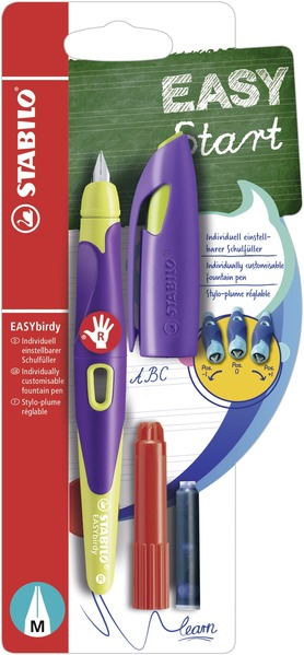 STABILO EASYbirdy fountain pen right handed - violet and yellow picture