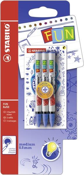 STABILO FUN 3 refills - blue picture
