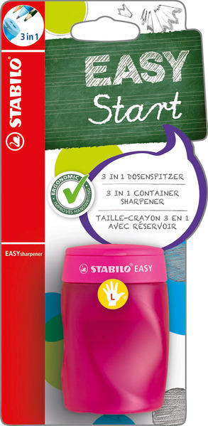 STABILO EASYsharpener left handed - blistercard pink picture
