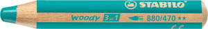 STABILO woody 3 in 1 multi-talented pencil single - turquoise picture
