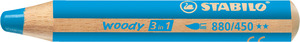 STABILO woody 3 in 1 multi-talented pencil single - cyan blue picture