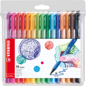 STABILO pointMAX premium fineliner - wallet of 15 colours picture