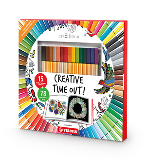 STABILO Creative Time Out Art Therapy Book and Pen Set picture